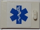 Part No: 4533pb007L  Name: Container, Cupboard 2 x 3 x 2 Door with EMT Star of Life to Left of Handle Pattern (Sticker) - Set 7902