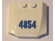 Part No: 45677pb009  Name: Wedge 4 x 4 x 2/3 Triple Curved with Number 4854 Pattern (Sticker) - Set 4854