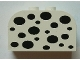 Part No: 4744px29  Name: Brick, Modified 2 x 4 x 2 Double Curved Top with Black Spots Pattern