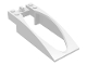 Part No: 47843  Name: Windscreen 10 x 4 x 2 Curved with Bubble Cutout and Single Hinge Finger