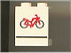 Part No: 4864apx7  Name: Panel 1 x 2 x 2 - Solid Studs with Red Bicycle and Black Line Pattern
