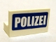 Part No: 4865pb014  Name: Panel 1 x 2 x 1 with 'POLIZEI' White on Blue Pattern (Sticker) - Set 7741