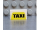 Part No: 4865px9  Name: Panel 1 x 2 x 1 with 'TAXI' on Yellow Pattern