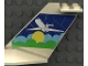 Part No: 4867pb06  Name: Tail Wedge with Airplane above Sun & Clouds Pattern on Both Sides (Stickers)