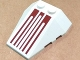 Part No: 48933pb005  Name: Wedge 4 x 4 Triple with Stud Notches with Six Dark Red Pinstripes Pattern (Sticker) - Set 8085