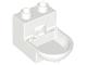 Part No: 4911  Name: Duplo Furniture Toilet (without Rim)