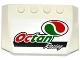Part No: 52031pb106  Name: Wedge 4 x 6 x 2/3 Triple Curved with Octan Logo and 'Octan Racing' Pattern (Sticker) - Set 60115