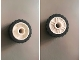 Part No: 55981c06  Name: Wheel 18mm D. x 14mm with Pin Hole, Fake Bolts and Shallow Spokes, with Black Tire 24 x 14 Shallow Tread - Band Around Center of Tread (55981 / 89201)