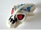 Part No: 57582pb02  Name: Minifigure, Head Modified Bionicle Barraki Pridak