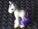 Part No: 57889pb02  Name: Duplo Horse Foal with Eyelashes, Gold Hooves, and Purple Mane and Tail