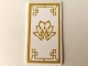 Part No: 57895pb058  Name: Glass for Window 1 x 4 x 6 with Gold Flower Pattern (Sticker) - Set 70643