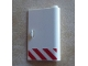 Part No: 58380pb09  Name: Door 1 x 3 x 4 Right - Open Between Top and Bottom Hinge (New Type) with Red Danger Stripes Pattern (Sticker) - Set 60023