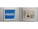 Part No: 59349pb007  Name: Panel 1 x 6 x 5 with White 'POLICE' on Blue Background Inside and Bulletin Board on Outside Pattern (Stickers) - Set 7744