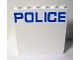Part No: 59349pb098  Name: Panel 1 x 6 x 5 with Blue 'POLICE' on White Background Pattern (Sticker) - Set 60044