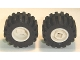 Part No: 6014bc03  Name: Wheel 11mm D. x 12mm, Hole Notched for Wheels Holder Pin with Black Tire Offset Tread Small Wider, Beveled Tread Edge (6014b / 60700)