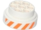 Part No: 60208pb02  Name: Wheel 31mm D. x 15mm Technic with Orange and White Danger Stripes Pattern (Sticker) - Set 70707