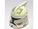 Part No: 61189pb07  Name: Minifigure, Headgear Helmet SW Clone Trooper with Holes, Sand Green Markings Pattern