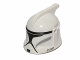 Part No: 61189pb13  Name: Minifig, Headgear Helmet SW Clone Trooper with Holes, Gray Markings and Black Visor Pattern