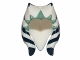 Part No: 61195pb02  Name: Minifigure, Headgear Headdress SW Togruta Montrals, Dark Blue and Sand Green Ahsoka Pattern