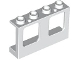Part No: 61345  Name: Window 1 x 4 x 2 Plane, Single Hole Top and Bottom for Glass
