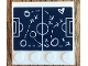 Part No: 6179pb134  Name: Tile, Modified 4 x 4 with Studs on Edge with Soccer Plays Diagram Pattern (Sticker) - Set 41330
