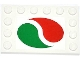 Part No: 6180pb062  Name: Tile, Modified 4 x 6 with Studs on Edges with Octan Logo Pattern (Sticker) - Set 4207