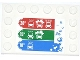 Part No: 6180pb064  Name: Tile, Modified 4 x 6 with Studs on Edges with Bubbles and Car Wash Price Table Pattern (Sticker) - Set 4207