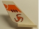 Part No: 6239pb029R  Name: Tail Shuttle with Orange Tri-Blade Pattern on Right Side (Sticker) - Set 8108
