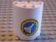 Part No: 6259pb004  Name: Cylinder Half 2 x 4 x 4 with Shuttle Pattern (Sticker) - Set 6454