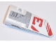 Part No: 64683pb029  Name: Technic, Panel Fairing # 3 Small Smooth Long, Side A with Red Half 'V' and '3' Pattern (Sticker) - Set 31313