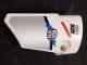 Part No: 64683pb041  Name: Technic, Panel Fairing # 3 Small Smooth Long Side A with 'EG NITE', 'NDG B/\U', Red and Black Stripes and Silver Pattern (Sticker) - Set 42000