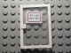 Part No: 73435c01pb02  Name: Door 1 x 4 x 5 Right with Trans-Clear Glass and White Open Hours '9-12 / 14-17' Pattern (Sticker)