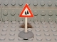 Part No: 747pb06c01  Name: Road Sign Old Triangle with Pedestrian Crossing 2 People Pattern & Type 1 Base