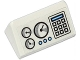 Part No: 85984pb052  Name: Slope 30 1 x 2 x 2/3 with 3 Gauges, Keypad and 3 Medium Blue Buttons Pattern (Sticker) - Set 60036
