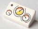 Part No: 85984pb174  Name: Slope 30 1 x 2 x 2/3 with Red Button and 3 Gauges Pattern (Sticker) - Set 60005