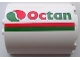 Part No: 87926pb002R  Name: Cylinder Half 3 x 6 x 6 with 1 x 2 Cutout with Red and Green Stripes and Octan Logo Pattern Model Right Side (Sticker) - Set 7939