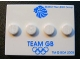 Part No: 88646pb001  Name: Tile, Modified 3 x 4 with 4 Studs in Center with 'TEAM GB' and Olympic Rings Pattern