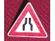 Part No: 892pb004  Name: Road Sign Clip-on 2 x 2 Triangle with Lane Merge Pattern