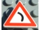 Part No: 892pb005  Name: Road Sign Clip-on 2 x 2 Triangle with Curve Ahead Pattern