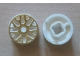 Part No: 93595pb01  Name: Wheel 11mm D. x 6mm with 8 'Y' Spokes with Gold Outline Pattern