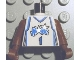 Part No: 973bpb186c01  Name: Torso NBA Orlando Magic #1 (White Uniform) Pattern / Brown NBA Arms