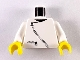Part No: 973p0bc01  Name: Torso Zipper Curved on Jacket and Pocket Pattern (black zipper) / White Arms / Yellow Hands