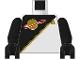 Part No: 973p6bc02  Name: Torso Space Futuron Black Pattern / Black Arms / Black Hands