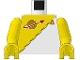 Part No: 973p6ec01  Name: Torso Space Futuron Yellow Pattern / Yellow Arms / Yellow Hands