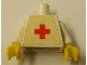Part No: 973pb0033c01  Name: Torso Hospital Red Cross Pattern (Sticker) / White Arms / Yellow Hands