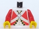 Part No: 973pb0206c01  Name: Torso Pirate Imperial Guard Pattern (Red) / Red Arms / Yellow Hands