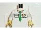 Part No: 973pb0238c01  Name: Torso Cargo Logo with Green Tie Pattern / White Arms / Yellow Hands