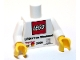 Part No: 973pb0508c01  Name: Torso LEGO Fan Weekend 2009 Pattern / White Arms / Yellow Hands