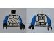 Part No: 973pb0510c02  Name: Torso SW Armor Clone Trooper Pattern (Clone Wars) / Blue Arms / Black Hands