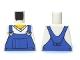 Part No: 973pb0649  Name: Torso V-Neck Shirt with Blue Overalls - Printed Back Pattern